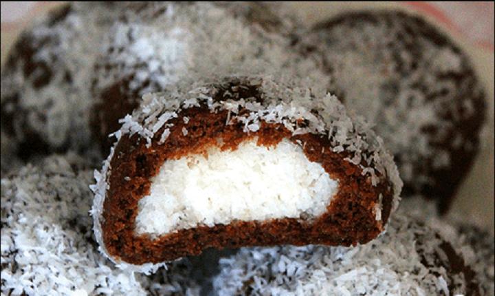 hindistan cevizli içli kurabiye