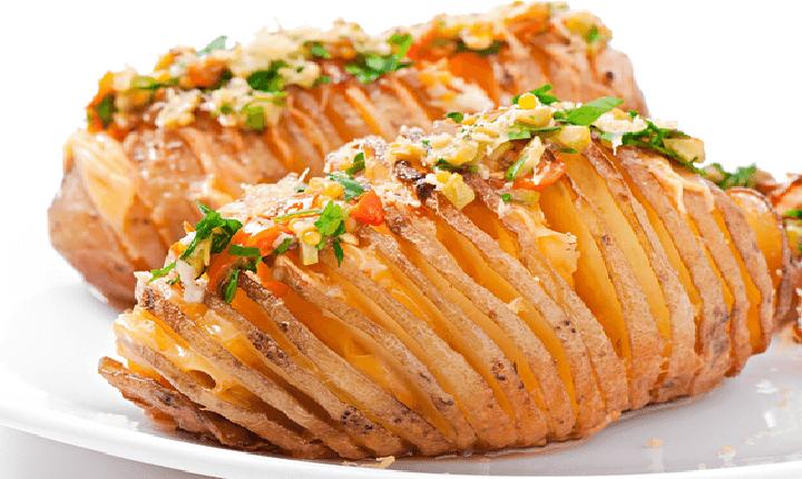 dilimli sebzeli patates